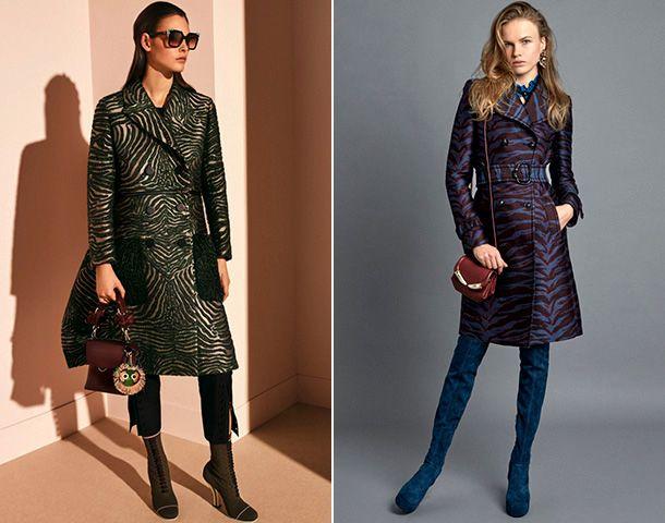 Стильное женское пальто с анималистическим принтом осень-зима 2018-2019
