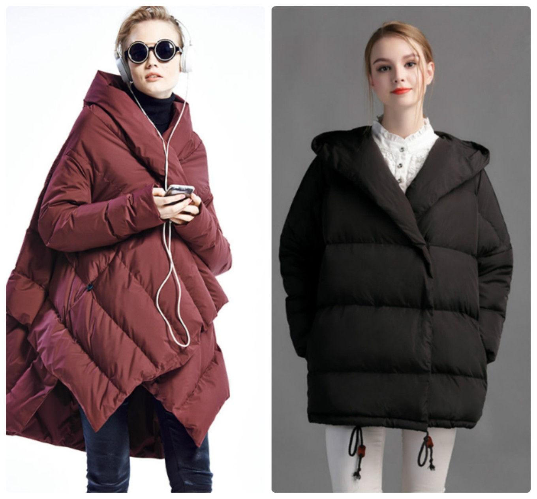 Модные пуховики оверсайз осень-зима 2019-20209