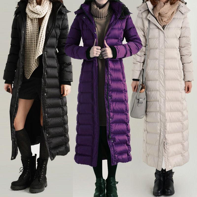 Стильные длинные женские пуховики осень-зима 2019-2020