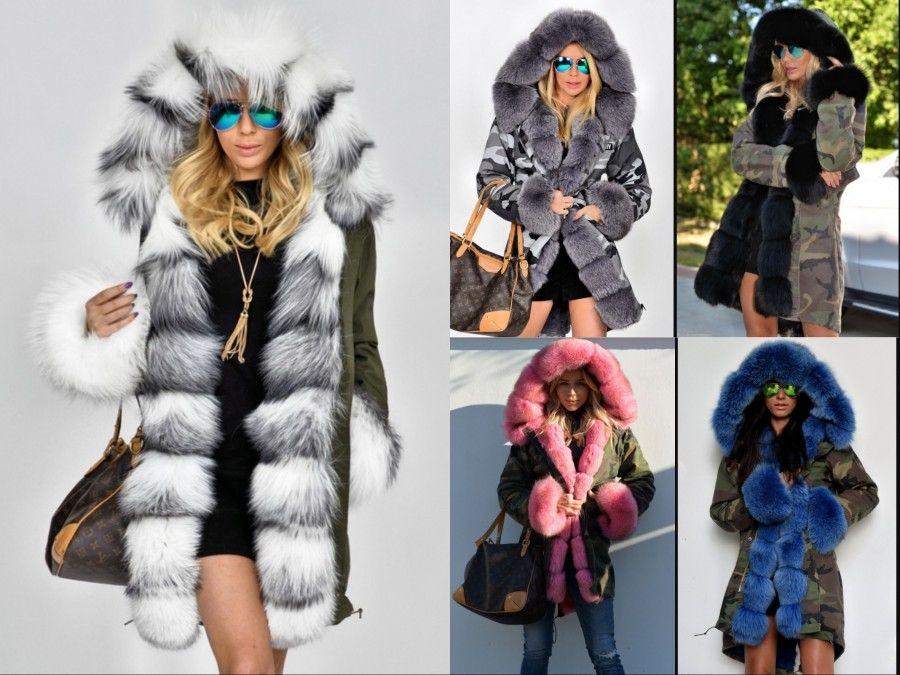 Стильные женские пуховики с мехом осень-зима 2019-2020