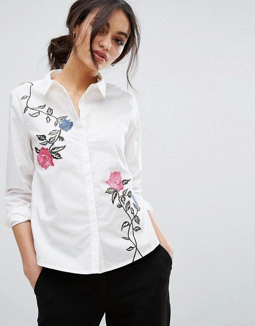 Модная рубашка с вышивкой осень-зима 2018-2019