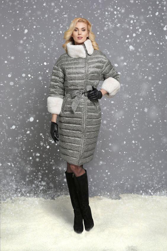 Приталенный женский пуховик осень-зима 2018-2019