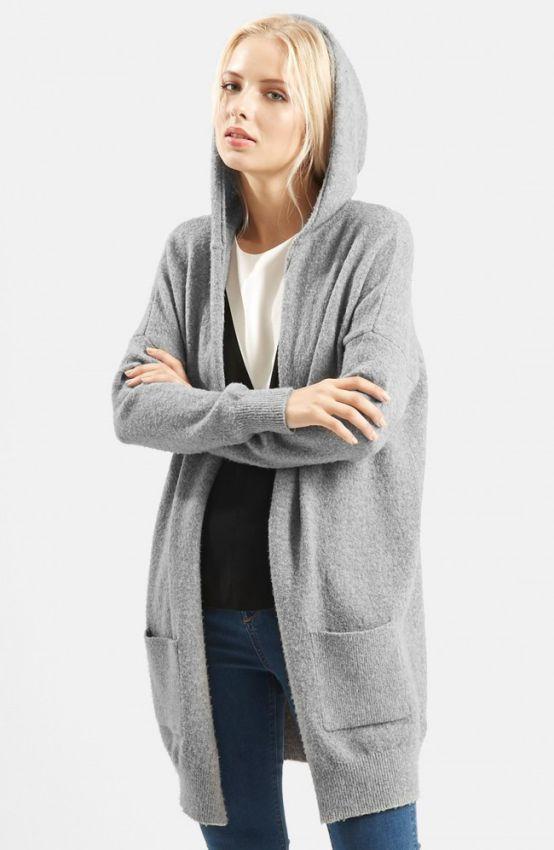 Модный кардиган с капюшоном осень-зима 2019-2020