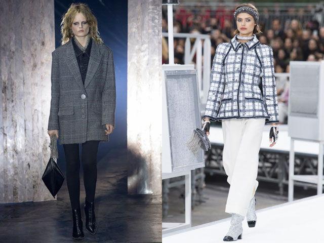 Пиджаки и жакеты в клетку осень-зима 2019-2020