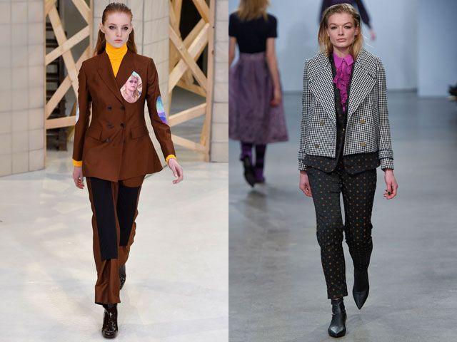 Модные двубортные пиджаки и жакеты осень-зима 2018-2019