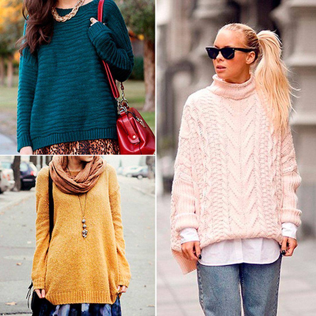 Объемные женские свитера осень-зима 2018-2019