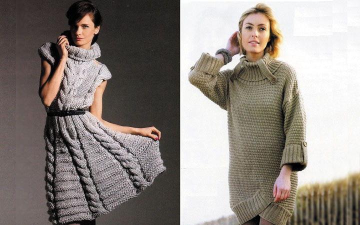 Платья-витера прямого и трапецевидного кроя осень-зима 2019-2020