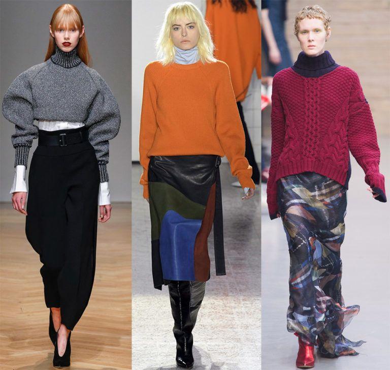 Практичный женский свитер осень-зима 2018-2019
