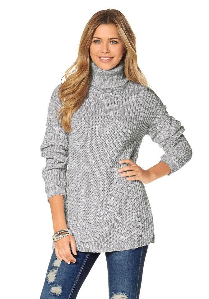 Женский свитер с высоким горлом осень-зима 2018-2019