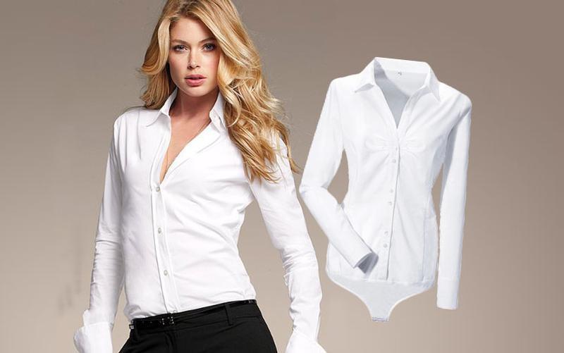 Стильная рубашка-боди осень-зима 2020-2021