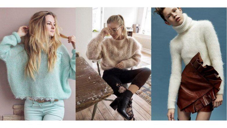 Модные теплые женские кофты осень-зима 2018-2019