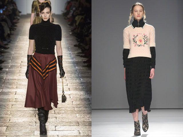 Модные кофты с короткими рукавами осень-зима 2020-2021