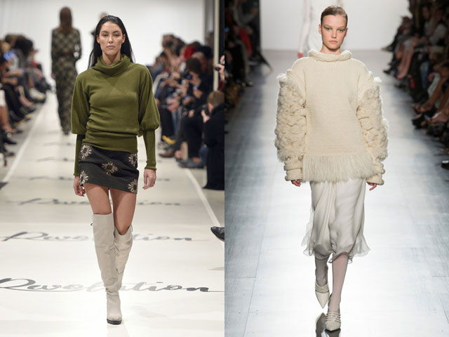 Модные кофты осень-зима 2018-2019: акцент на рукава