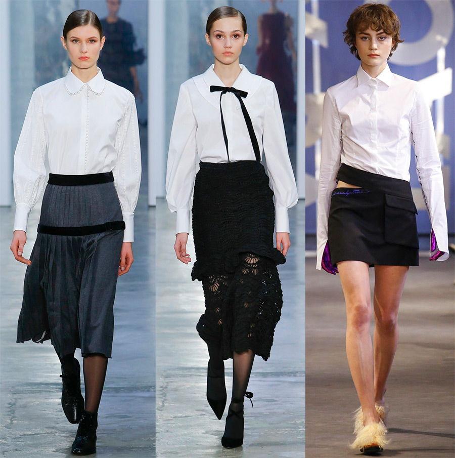 Стильные белые рубашки осень-зима 2020-2021