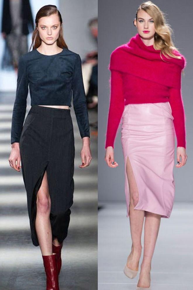 Модная юбка-карандаш осень-зима 2018-2019