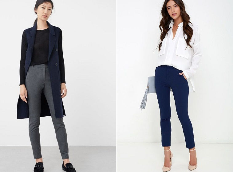 Зауженные брюки - модный элемент базового гардероба осень-зима 2018-2019