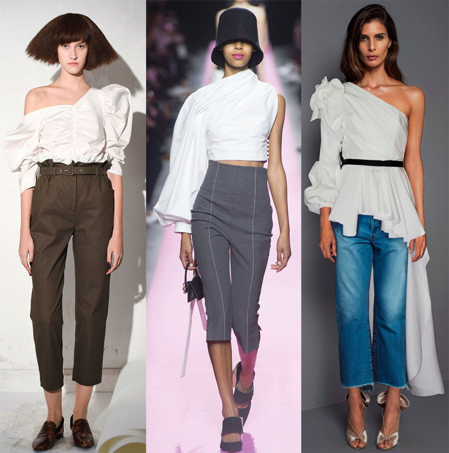 Асимметричные женские рубашки осень-зима 2018-2019