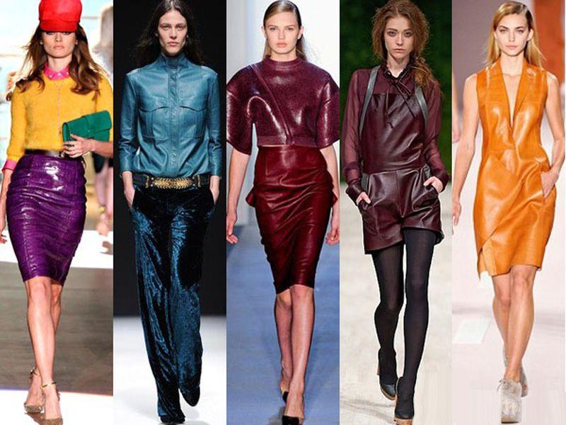 Кожаные платья - тренд сезона осень-зима 2019-2020