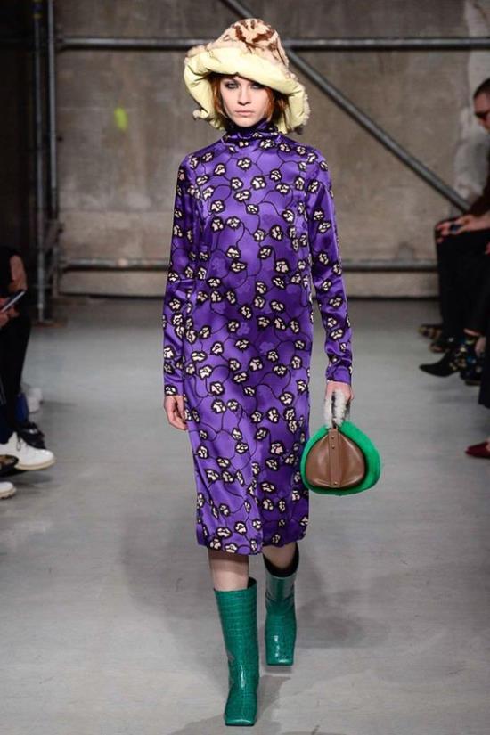 Модные луки фиолтового вета осень-зима 2019-2020
