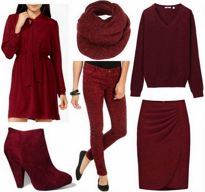 Модные сеты марсала осень-зима 2019-2020