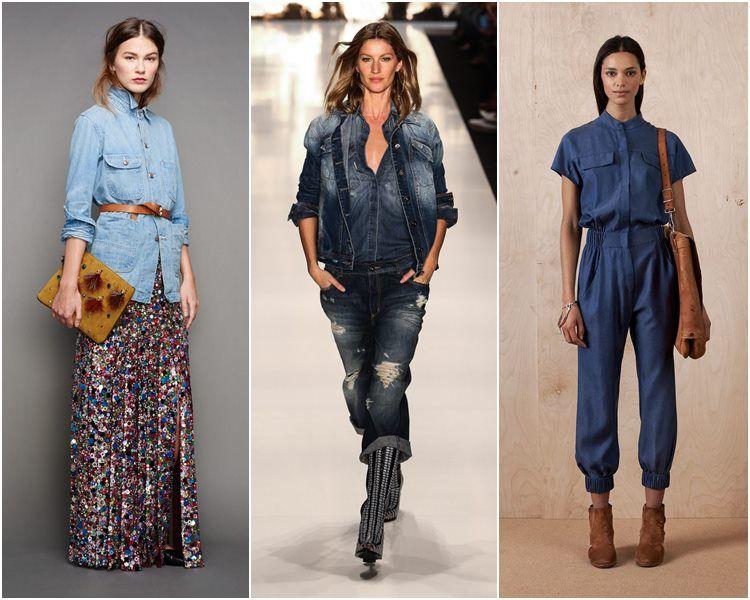 Модные джинсовые рубашки осень-зима 2018-2019