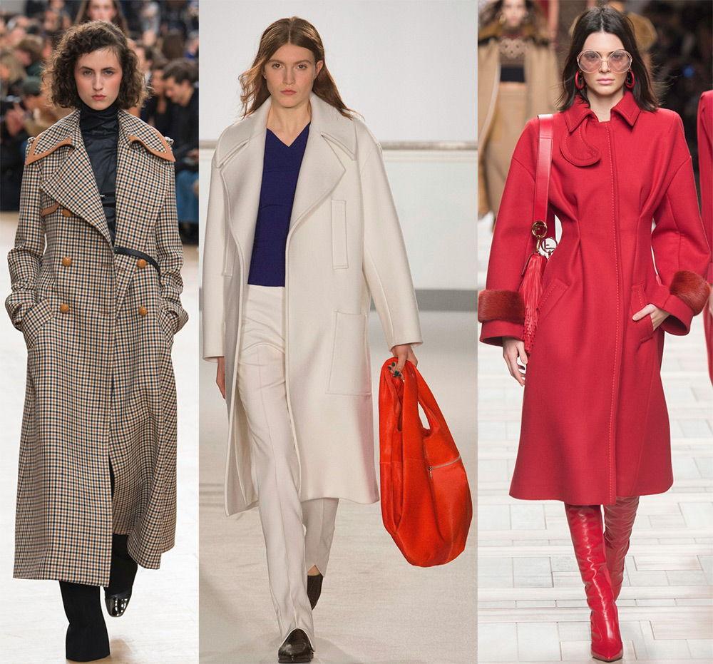 Модные длинные пальто осень-зима 2018-2019