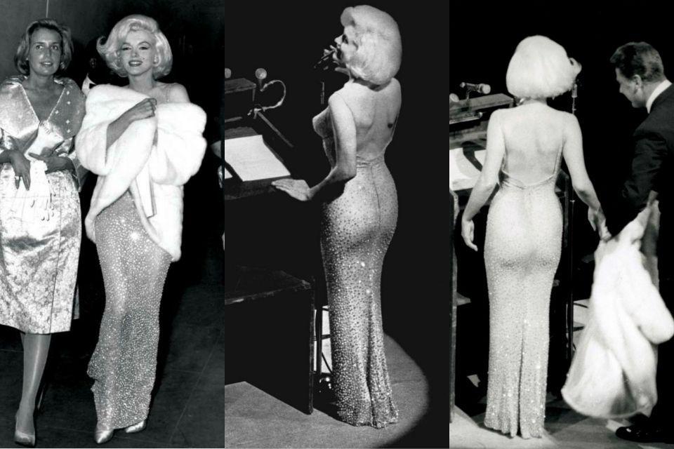 Скандальное голое платье Мэрилин Монро