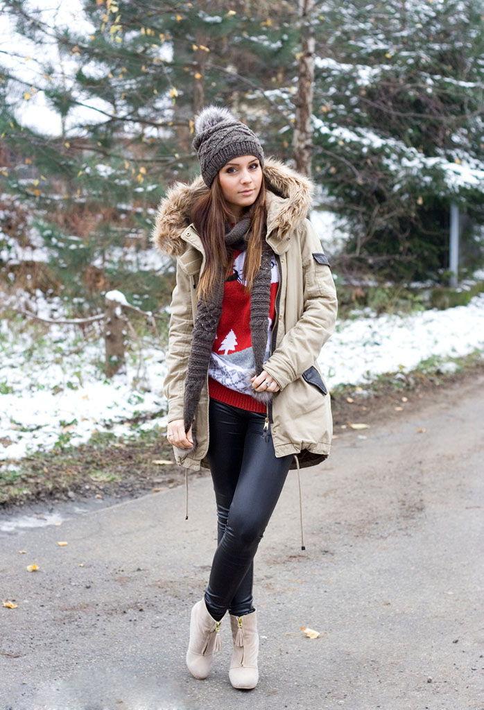 Романтический образ с шапкой и курткой