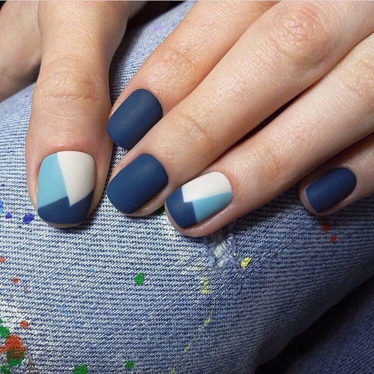 Матовый маникюр на короткие ногти