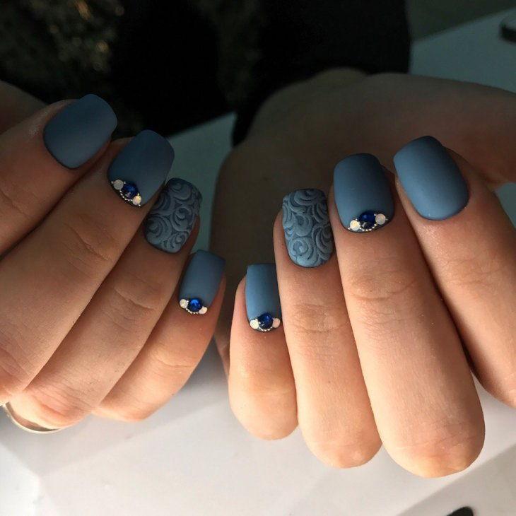Матовый маникюр на коротких ногтях 2018