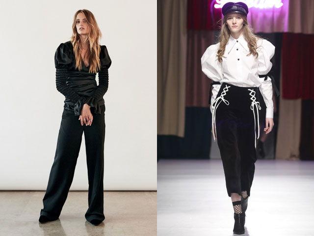 Модные блузки с рукавами «фонарик» осень-зима 2018-2019