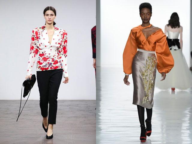 Модные блузы с V-образным вырезом осень-зима 2018-2019