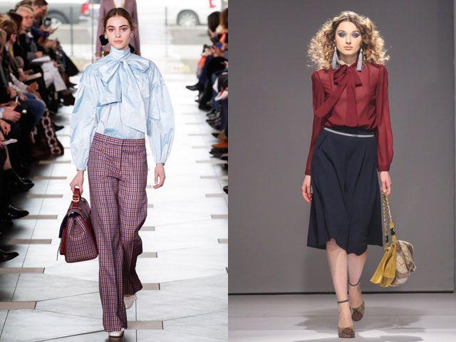 Блузы с бантами и завязками – модный хит осень-зима 2020-2021
