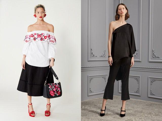 Модные блузы с открытыми плечами осень-зима 2020-2021