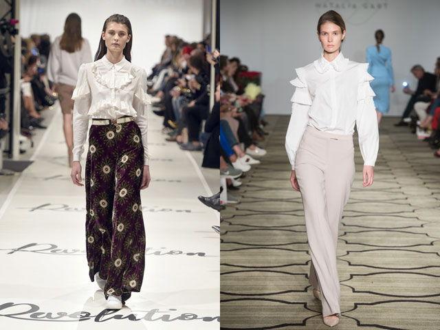 Модные блузки с рюшами осень-зимка 2018-2019