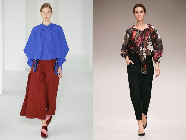 Модные модели блузок свободного кроя осень-зима 2018-2019
