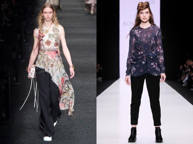 Модные удлиненные блузки осень-зима 2018-2019