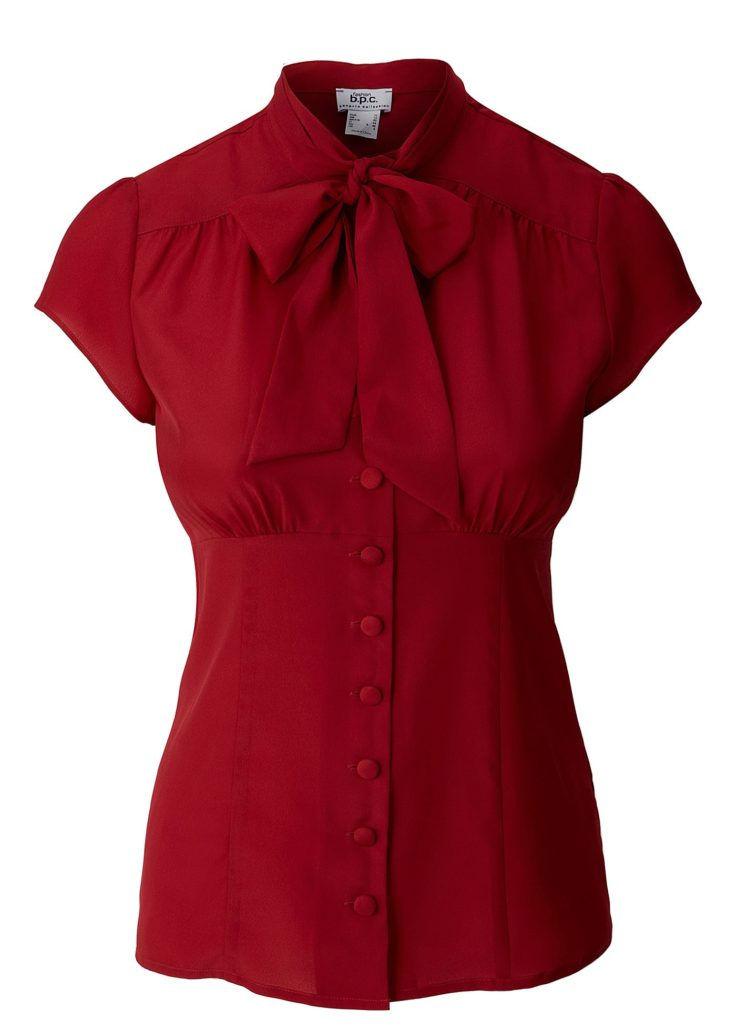 Модная блузка с бантом хомутом осень-зима 2020-2021