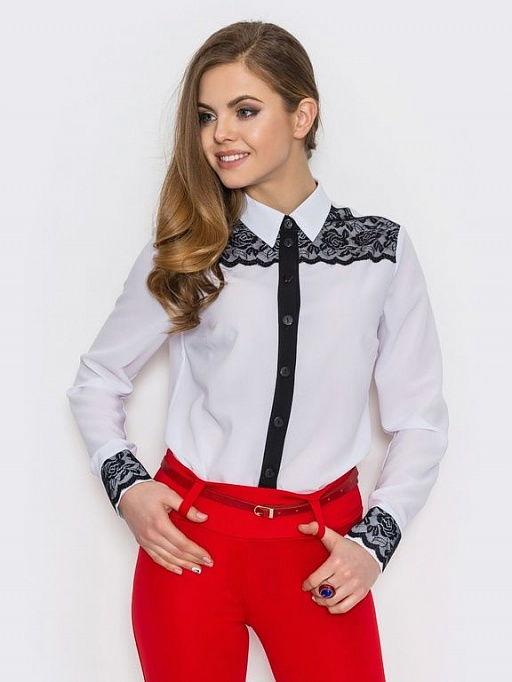 Модная блузка с кружевом осень-зима 2020-2021