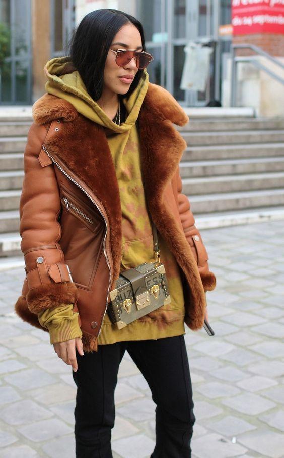 Модная дубленка осень-зима 2018-2019