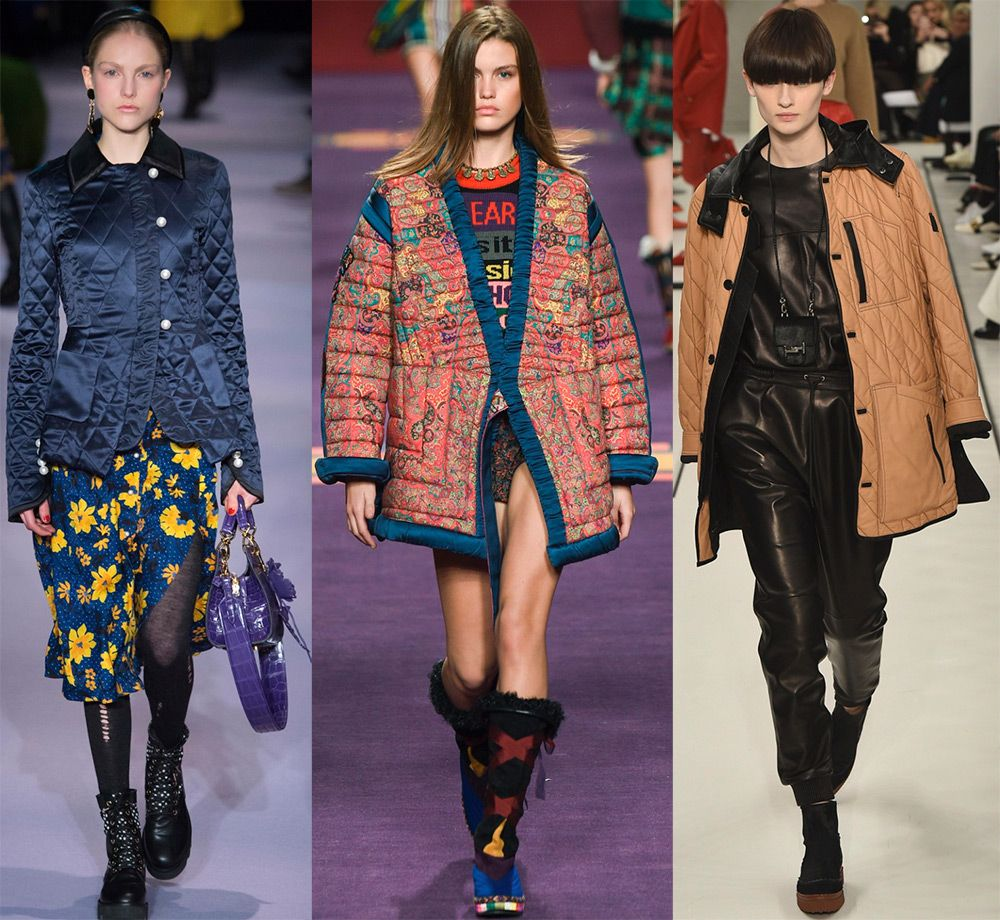 Стеганная женская куртка осень-зима 2018-2019