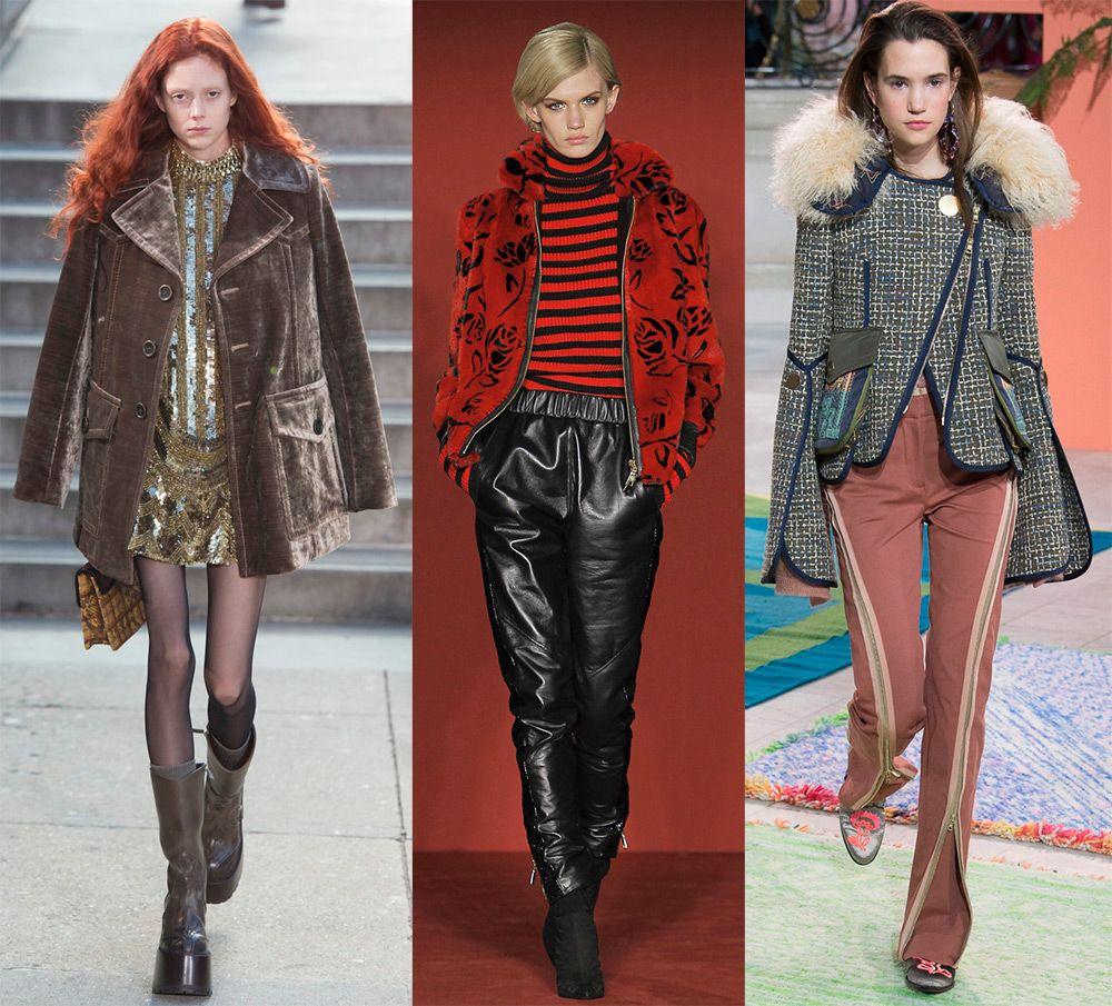 Модные куртки из винила и бархата осень-зима 2018-2019