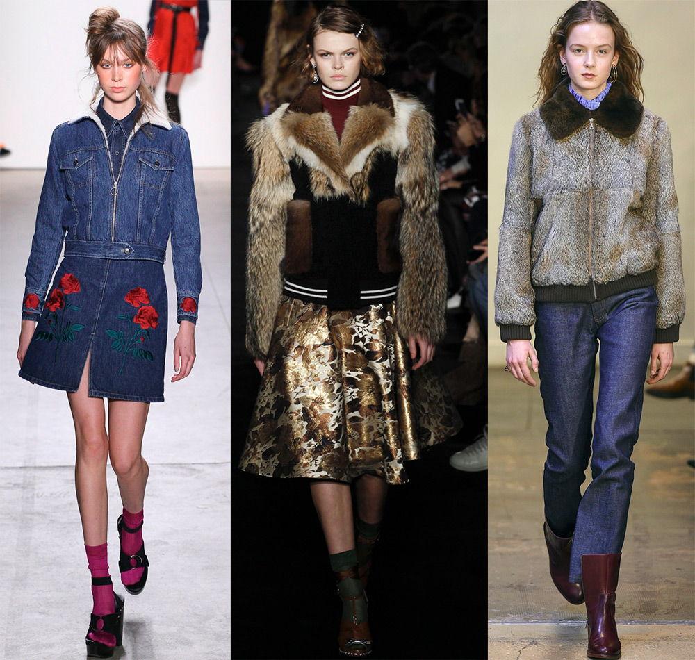 Модные куртки из меха и денима осень-зима 2019-2020