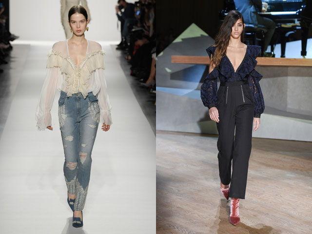 Стильные блузы с V-образным вырезом осень-зима 2020-2021
