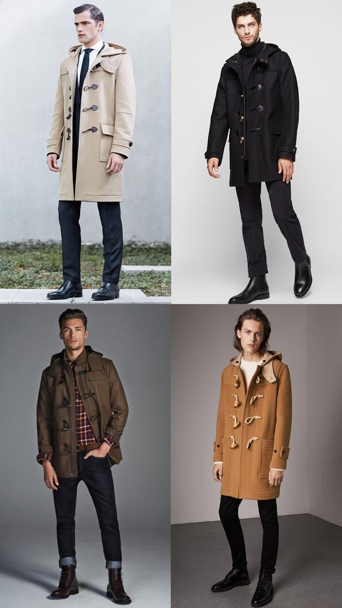 Даффлокт мужское пальто