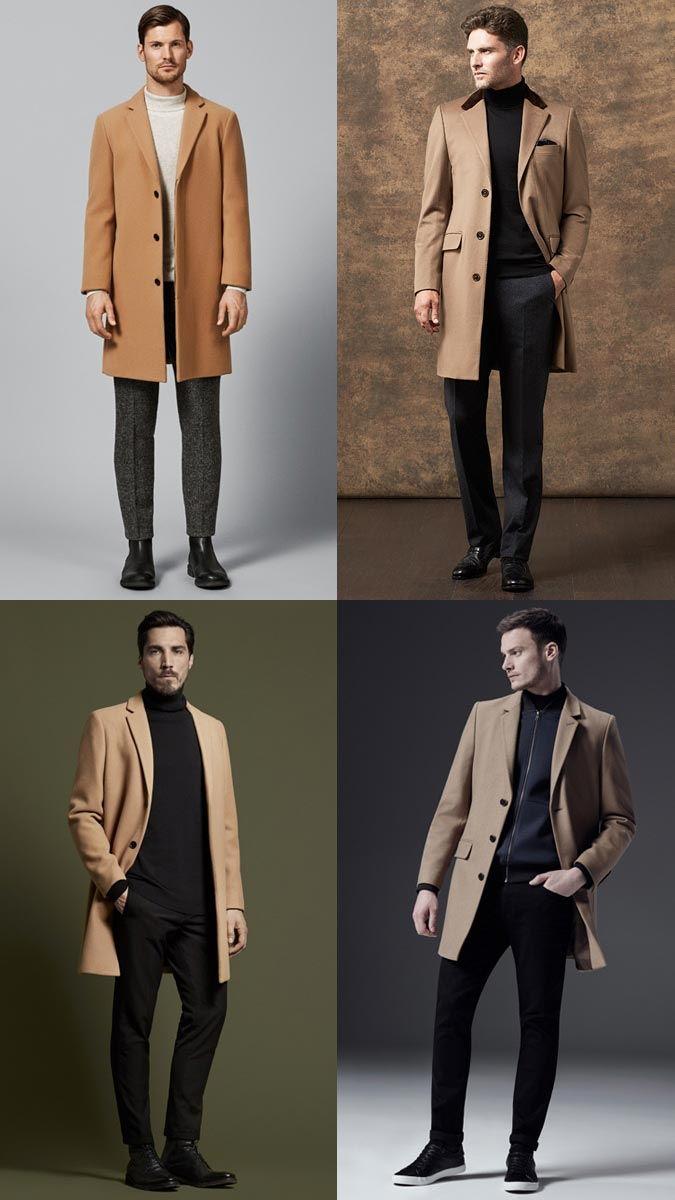 Пальто песочного цвета