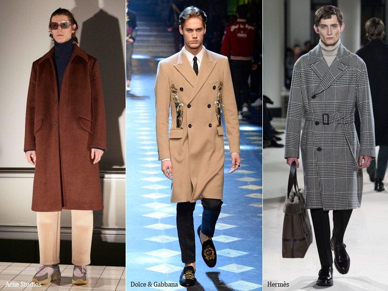 Прямое пальто средней длины