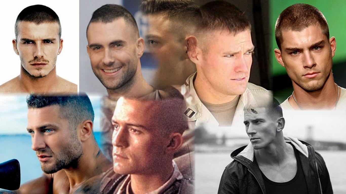 Стрижка-милитари-мужская-фото