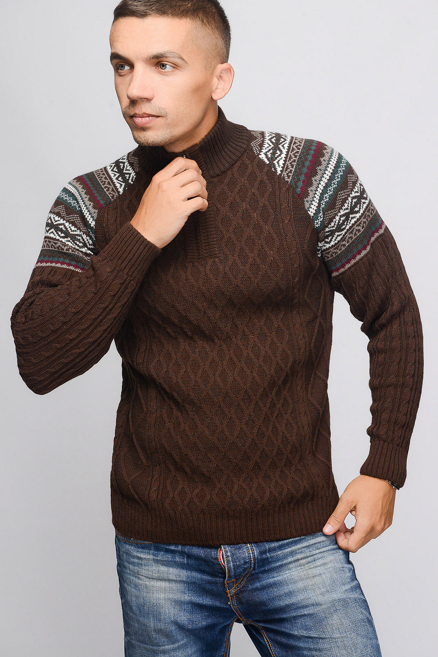 Высокое горло в мужских свитерах осень-зима 2018-2019