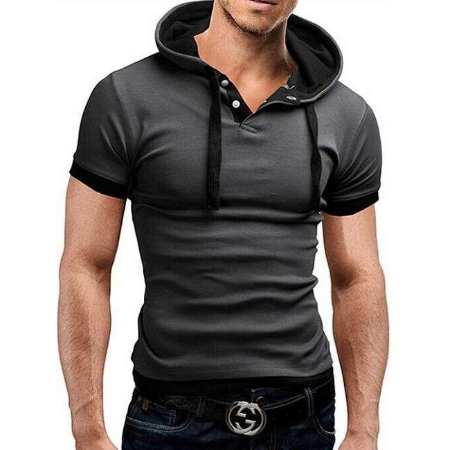 Мужская футболка с капюшоном